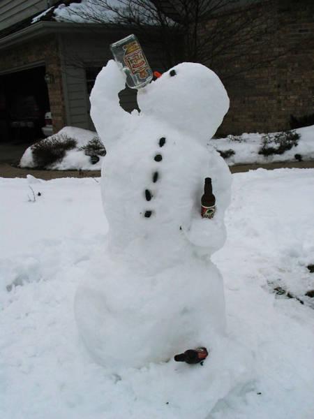 面白い雪だるまの画像(22枚目)