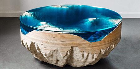 深海の地形がテーブルの画像(1枚目)