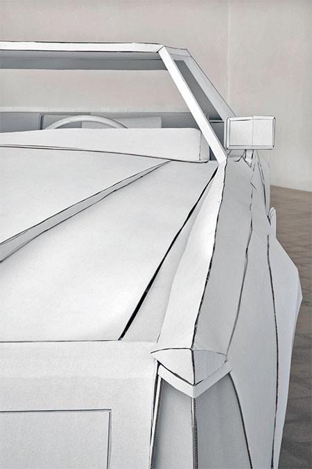 紙だけで再現した自動車の画像(7枚目)