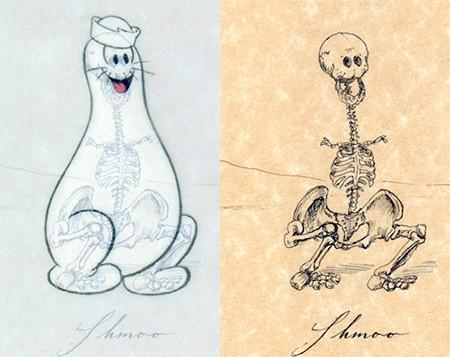 アニメや漫画のキャラクターの骨格のイメージ画像が凄いwwwの画像(10枚目)