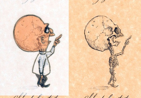 アニメや漫画のキャラクターの骨格のイメージ画像が凄いwwwの画像(8枚目)