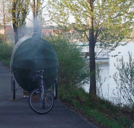 自転車サウナ10