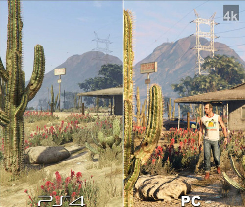 PS4とパソコンのグラフィックを同じゲームで比較した結果!!の画像(1枚目)