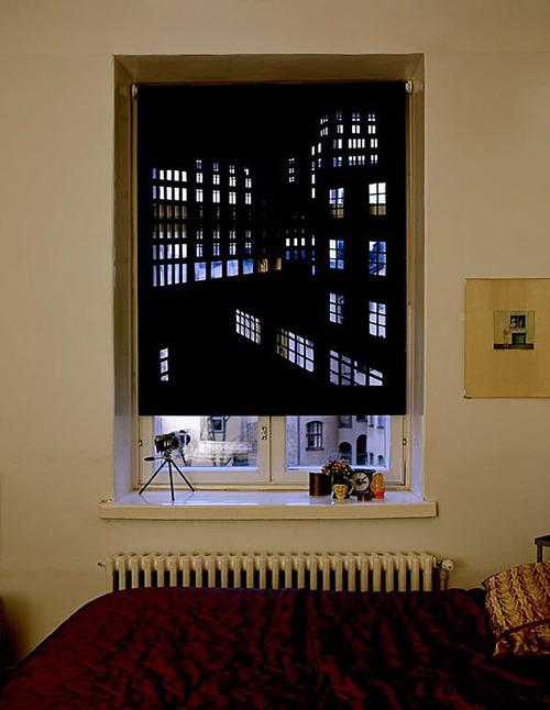 夜景のような景色のカーテンの画像(9枚目)