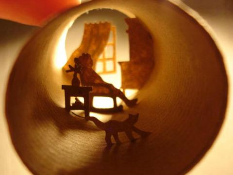 【面白アート】トイレットペーパーの芯で作る不思議な世界!の画像(8枚目)