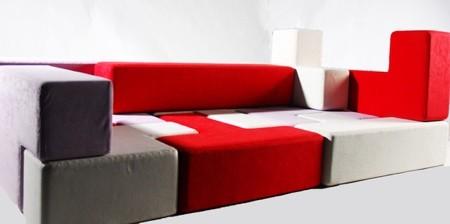 テトリスのブロックでできたソファー01