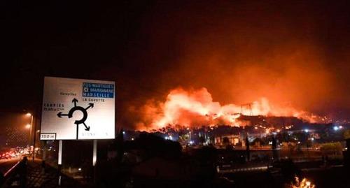 フランスのマルセイユの山火事の画像(21枚目)