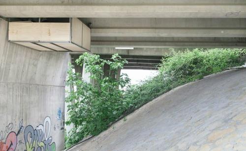 橋脚の下を改造した部屋の画像(1枚目)