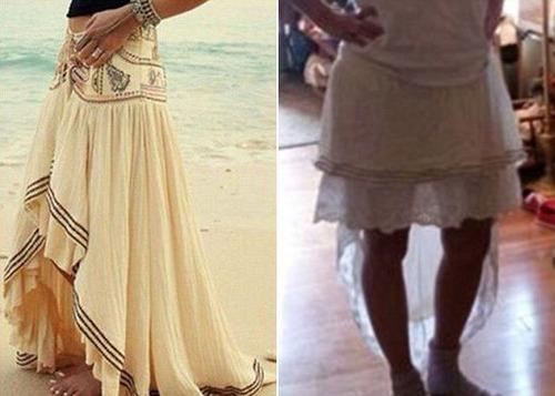 ちょっと酷い…女性の服の商品画像と届いた商品の比較画像の数々。。の画像(9枚目)