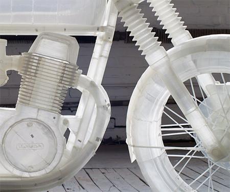 3Dプリンタで作った実物大のバイクの模型03