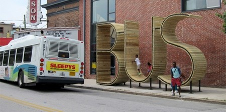 バス停のベンチ01