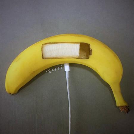 バナナのカービングアート4