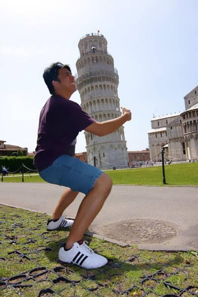 ピサの斜塔の記念撮影の画像(5枚目)