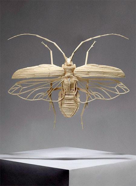 【画像】マッチ棒で作った昆虫のクオリティが凄い!!の画像(2枚目)