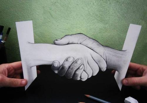紙で作った3Dアートの画像(9枚目)