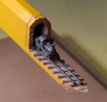 画像】鉄道模型のように鉛筆を加工したアートが凄い!!の画像(2枚目)