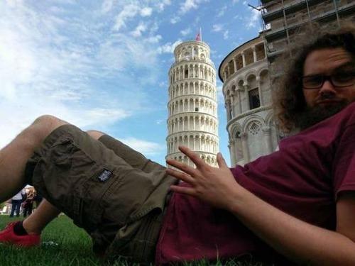 ピサの斜塔の記念撮影の画像(35枚目)