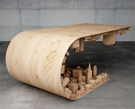 【画像】大きな街を再現したテーブルが凄い!!の画像(2枚目)