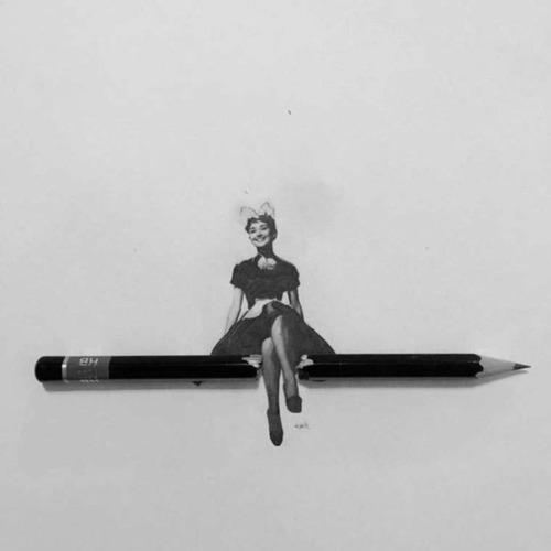 鉛筆やシャーペンで描いた小さいけど凄いクオリティの画像の数々!!の画像(5枚目)