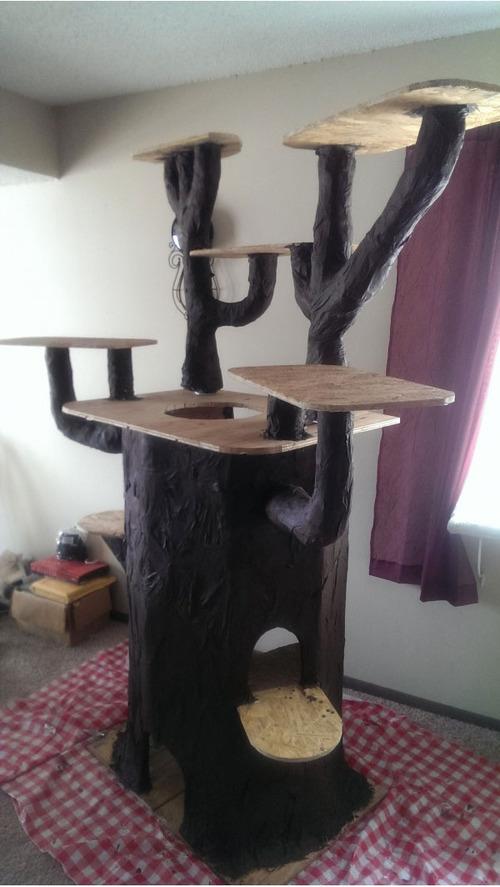 手作りのキャットタワーのクオリティが市販のキャットタワーを超えているwwの画像(15枚目)