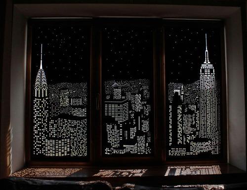 夜景のような景色のカーテンの画像(12枚目)