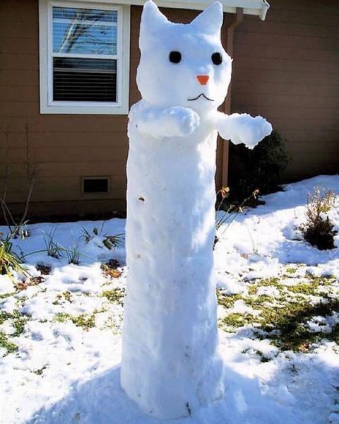面白い雪だるまの画像(32枚目)