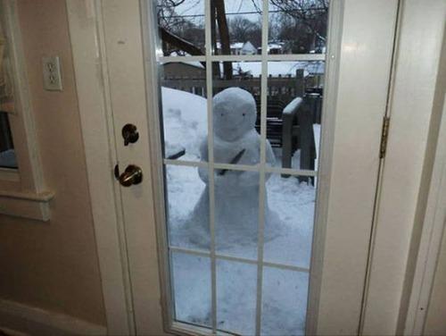面白い雪だるまの画像(17枚目)