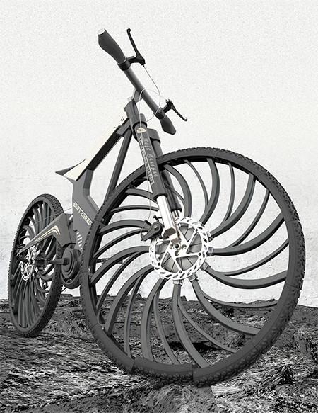 自転車のホイール一体型のサス02