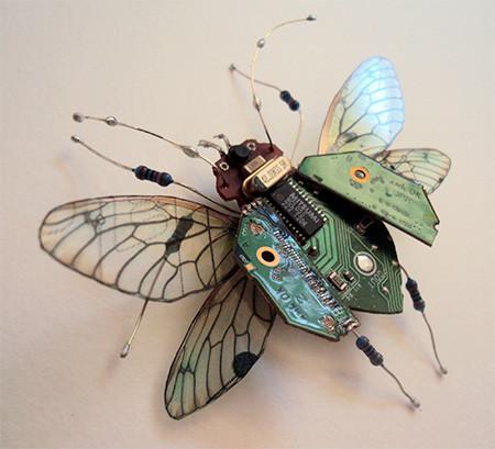 今にも動き出しそう!ちょっとリアルな電子部品でできた昆虫!!の画像(12枚目)