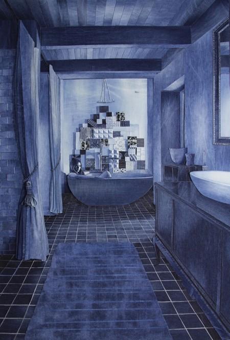 デニムで描いた風景画12