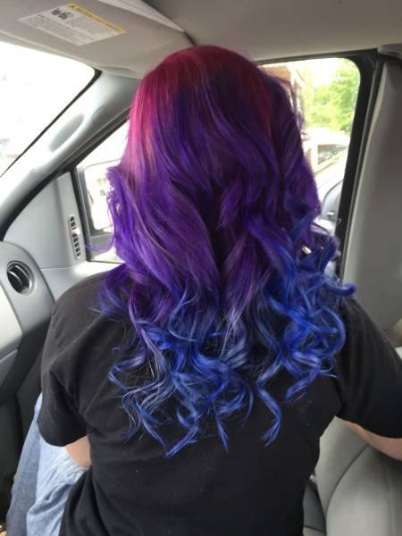 虹のような髪の毛の女の子の画像(32枚目)