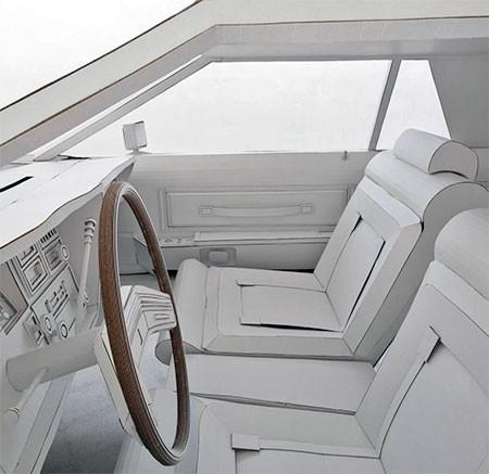 紙だけで再現した自動車の画像(4枚目)