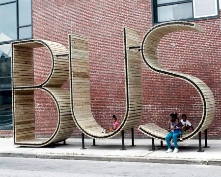バス停のベンチ02