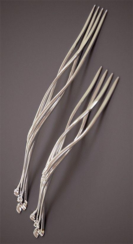 【画像】新技術!3Dプリンターで作った銀製のナイフやフォークが凄い!!の画像(3枚目)