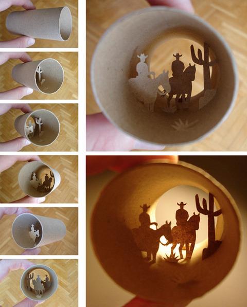 【面白アート】トイレットペーパーの芯で作る不思議な世界!の画像(18枚目)