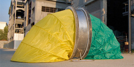 コロコロ運べる仮設テントの画像(1枚目)