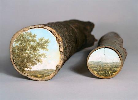 木の年輪に描かれた絵06