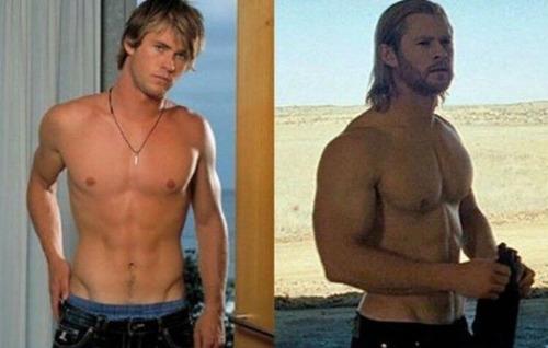 ハリウッドスターの肉体改造の前後の比較写真!!の画像(5枚目)