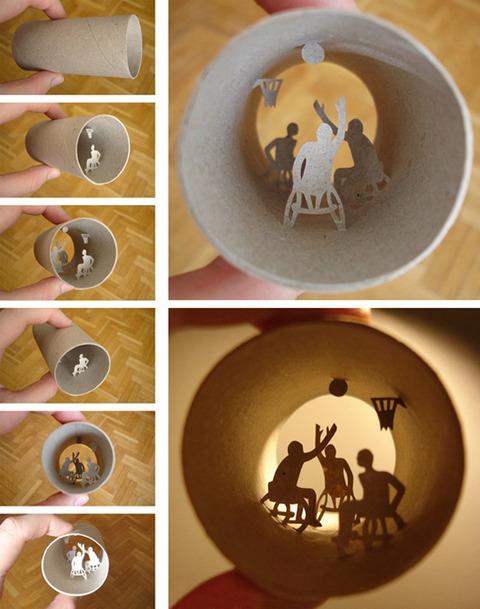【面白アート】トイレットペーパーの芯で作る不思議な世界!の画像(3枚目)