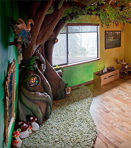 家の中に樹木の洞穴「樹洞」ができる!子供達も大喜び!!の画像(3枚目)