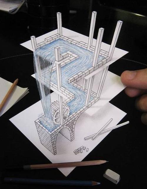 紙で作った3Dアートの画像(8枚目)
