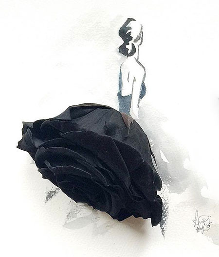 本物の花で描いたアートが華やかで癒される!!の画像(14枚目)