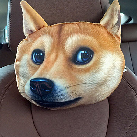 動物の顔の自動車用の枕の画像(7枚目)