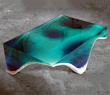 【画像】まるで深海そのもの!深い海の底のようなテーブルが凄い!!の画像(2枚目)