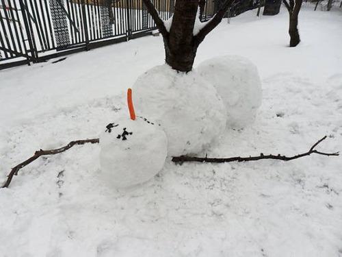 面白い雪だるまの画像(7枚目)