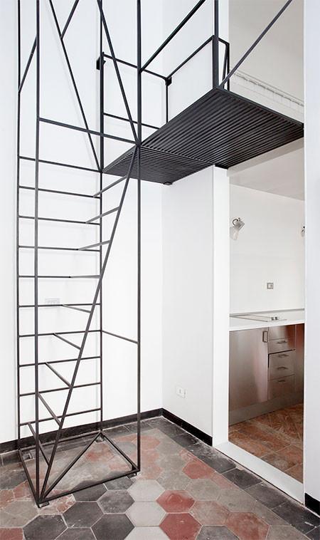 ワイヤフレームのような階段03