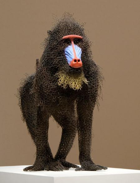 金網で作られた動物の画像(9枚目)