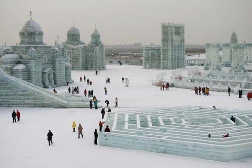 中国の雪祭りの画像(2枚目)