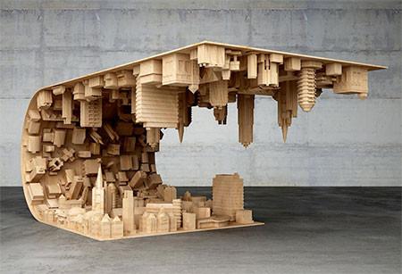 【画像】大きな街を再現したテーブルが凄い!!の画像(4枚目)