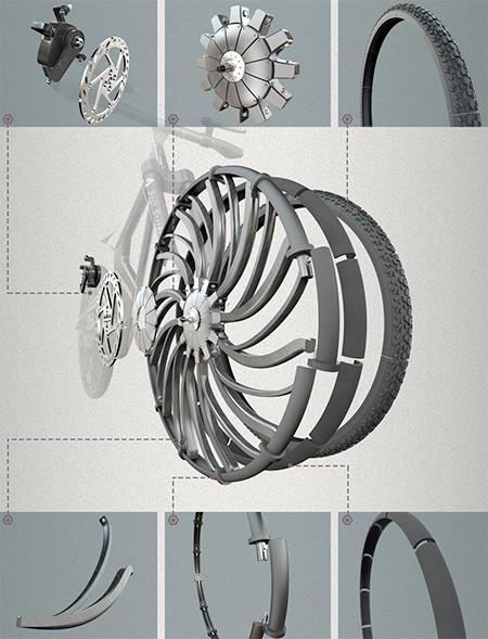 自転車のホイール一体型のサス06